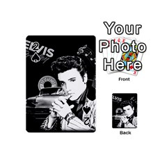 Elvis Presley Collage Playing Cards 54 (mini)  by Valentinaart