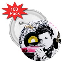 Elvis Presley Collage 2 25  Buttons (100 Pack)  by Valentinaart