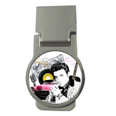 Elvis Presley Collage Money Clips (round)  by Valentinaart