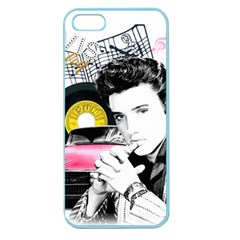 Elvis Presley Collage Apple Seamless Iphone 5 Case (color) by Valentinaart