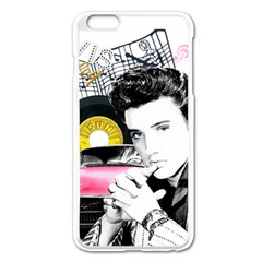 Elvis Presley Collage Apple Iphone 6 Plus/6s Plus Enamel White Case by Valentinaart