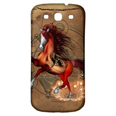 Awesome Horse  With Skull In Red Colors Samsung Galaxy S3 S Iii Classic Hardshell Back Case by FantasyWorld7
