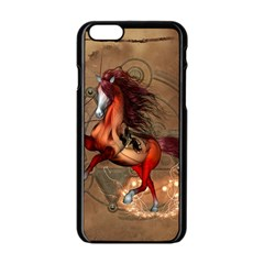 Awesome Horse  With Skull In Red Colors Apple Iphone 6/6s Black Enamel Case by FantasyWorld7