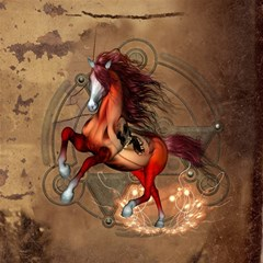 Awesome Horse  With Skull In Red Colors Magic Photo Cubes by FantasyWorld7