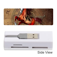 Awesome Horse  With Skull In Red Colors Memory Card Reader (stick)