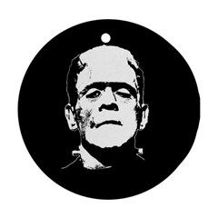 Frankenstein s Monster Halloween Round Ornament (two Sides) by Valentinaart