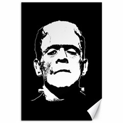 Frankenstein s Monster Halloween Canvas 12  X 18   by Valentinaart