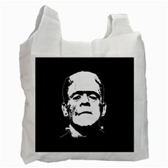 Frankenstein s Monster Halloween Recycle Bag (two Side)  by Valentinaart