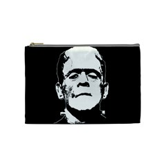 Frankenstein s Monster Halloween Cosmetic Bag (medium)  by Valentinaart