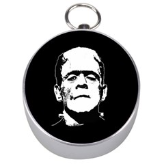 Frankenstein s Monster Halloween Silver Compasses by Valentinaart