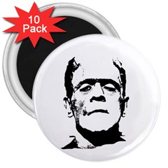 Frankenstein s Monster Halloween 3  Magnets (10 Pack)  by Valentinaart