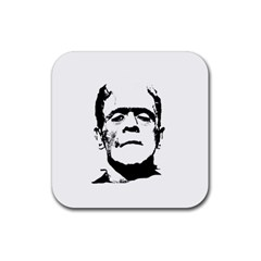 Frankenstein s Monster Halloween Rubber Square Coaster (4 Pack)  by Valentinaart