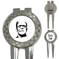 Frankenstein s Monster Halloween 3 In 1 Golf Divots by Valentinaart