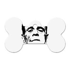 Frankenstein s Monster Halloween Dog Tag Bone (one Side) by Valentinaart