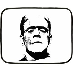 Frankenstein s Monster Halloween Fleece Blanket (mini) by Valentinaart