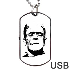 Frankenstein s Monster Halloween Dog Tag Usb Flash (two Sides) by Valentinaart