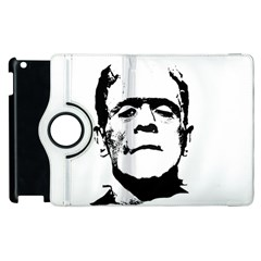 Frankenstein s Monster Halloween Apple Ipad 2 Flip 360 Case by Valentinaart