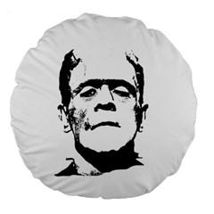 Frankenstein s Monster Halloween Large 18  Premium Round Cushions by Valentinaart