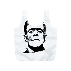Frankenstein s Monster Halloween Full Print Recycle Bags (s)  by Valentinaart