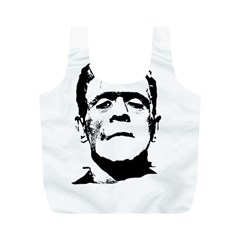 Frankenstein s Monster Halloween Full Print Recycle Bags (m)  by Valentinaart