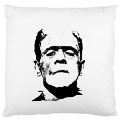 Frankenstein s Monster Halloween Large Flano Cushion Case (one Side) by Valentinaart