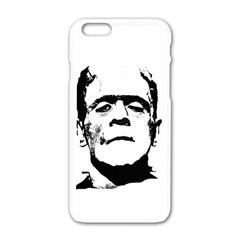 Frankenstein s Monster Halloween Apple Iphone 6/6s White Enamel Case by Valentinaart