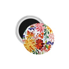 Autumn Flowers Pattern 1 1 75  Magnets by tarastyle