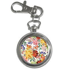 Autumn Flowers Pattern 1 Key Chain Watches by tarastyle