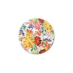 Autumn Flowers Pattern 1 Golf Ball Marker (10 Pack) by tarastyle