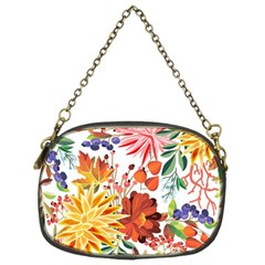 Autumn Flowers Pattern 1 Chain Purses (two Sides)  by tarastyle