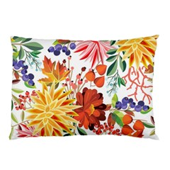Autumn Flowers Pattern 1 Pillow Case by tarastyle