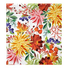 Autumn Flowers Pattern 1 Shower Curtain 66  X 72  (large)  by tarastyle