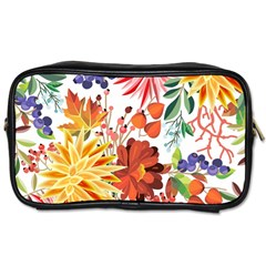 Autumn Flowers Pattern 1 Toiletries Bags 2 Side by tarastyle
