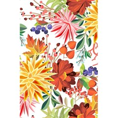 Autumn Flowers Pattern 1 5 5  X 8 5  Notebooks by tarastyle