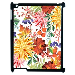 Autumn Flowers Pattern 1 Apple Ipad 2 Case (black) by tarastyle