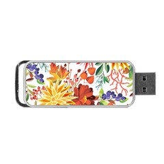 Autumn Flowers Pattern 1 Portable Usb Flash (two Sides) by tarastyle