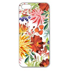 Autumn Flowers Pattern 1 Apple Seamless Iphone 5 Case (clear) by tarastyle