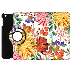 Autumn Flowers Pattern 1 Apple Ipad Mini Flip 360 Case by tarastyle