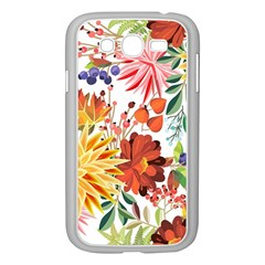 Autumn Flowers Pattern 1 Samsung Galaxy Grand Duos I9082 Case (white) by tarastyle