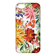 Autumn Flowers Pattern 1 Apple Iphone 5c Hardshell Case by tarastyle