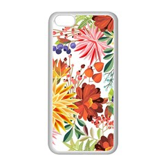 Autumn Flowers Pattern 1 Apple Iphone 5c Seamless Case (white) by tarastyle
