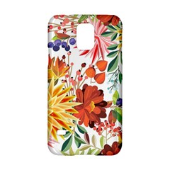 Autumn Flowers Pattern 1 Samsung Galaxy S5 Hardshell Case  by tarastyle