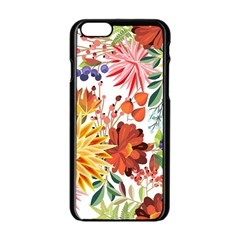 Autumn Flowers Pattern 1 Apple Iphone 6/6s Black Enamel Case by tarastyle