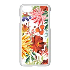 Autumn Flowers Pattern 1 Apple Iphone 7 Seamless Case (white) by tarastyle