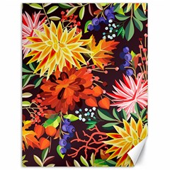 Autumn Flowers Pattern 2 Canvas 18  X 24   by tarastyle
