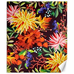 Autumn Flowers Pattern 2 Canvas 20  X 24   by tarastyle