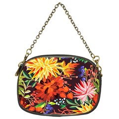 Autumn Flowers Pattern 2 Chain Purses (one Side)  by tarastyle