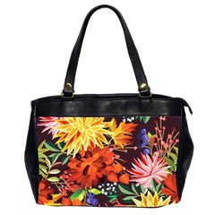 Autumn Flowers Pattern 2 Office Handbags (2 Sides)  by tarastyle