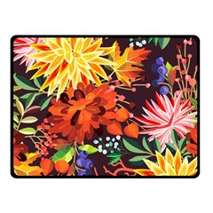 Autumn Flowers Pattern 2 Fleece Blanket (small) by tarastyle