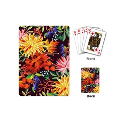 Autumn Flowers Pattern 2 Playing Cards (mini)  by tarastyle
